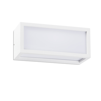 Applique d exterieur tejo blanc ip54 o11cm h25cm faro normal