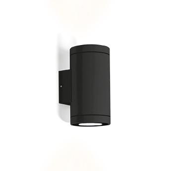 Applique d exterieur tube 2 0 par16 noir ip65 o8cm h15 2cm wever ducre normal