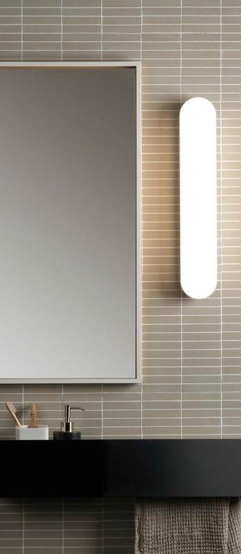 Applique de salle de bain altea 500 chrome poli ip44 led 3000k 858lm l9cm h50cm astro lighting normal