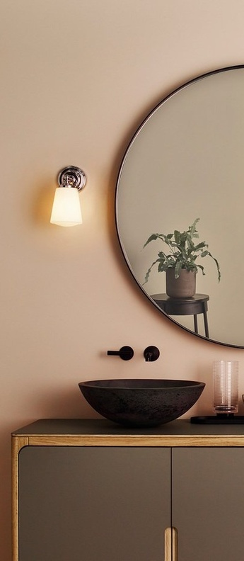 Applique de salle de bain anton chrome poli ip44 l11cm h21 5cm astro normal