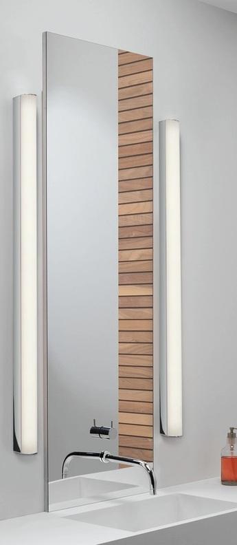 Applique de salle de bain artemis 900 led chome poli ip44 led 3000k 873lm l3cm h90cm astro lighting normal