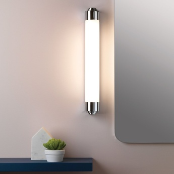 Applique de salle de bain belgravia 600 chrome poli ip44 led 3000k 723lm l7 1cm h60cm astro normal