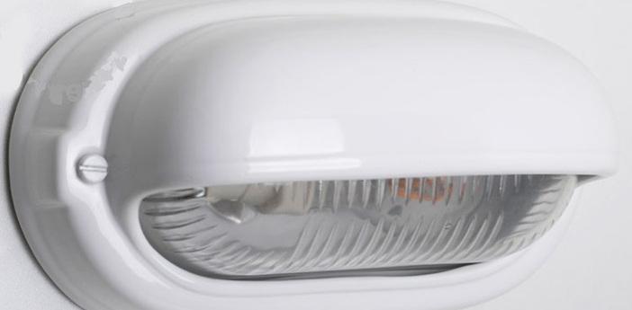 Applique de salle de bain blanc ip40 l24cm h13cm zangra normal