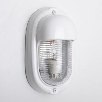 Applique de salle de bain etanche ceramique blanc ip40 l13cm h24cm zangra normal