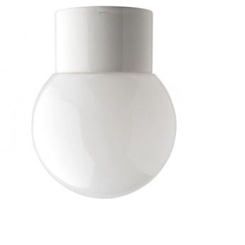 Applique de salle de bain etanche en porcelaine blanc verre opalin glass 003 ip54 o12 5cm p10 5cm ip54 zangra normal