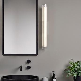 Applique de salle de bain io 665 chrome verre ip44 l8cm h66 5cm astro normal