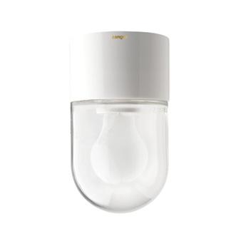 Applique de salle de bain ip54 glass 002 blanc verre clair o8 h9cm zangra normal
