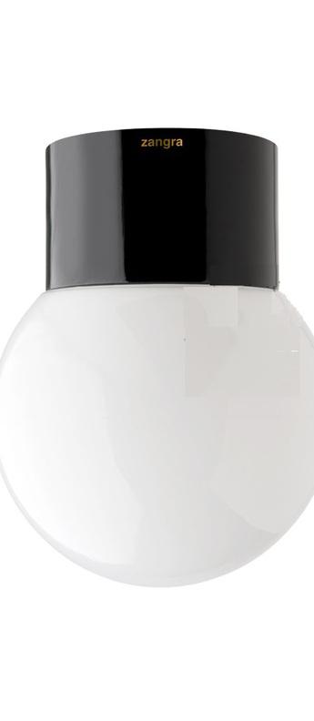 Applique de salle de bain ip54 glass 003 opalin noir o12 5cm h16cm zangra normal