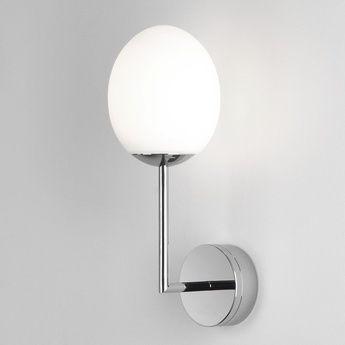 Applique de salle de bain kiwi wall chrome poli ip44 led 2700k 567lm l13cm h35 6cm astro lighting normal