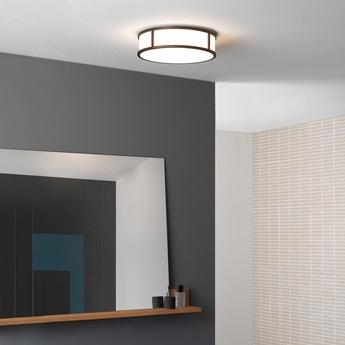 Applique de salle de bain mashiko 300 round bronze ip44 o30cm h9cm astro lighting normal