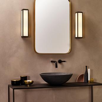 Applique de salle de bain mashiko classic 360 bronze ip44 o8cm h36cm astro normal