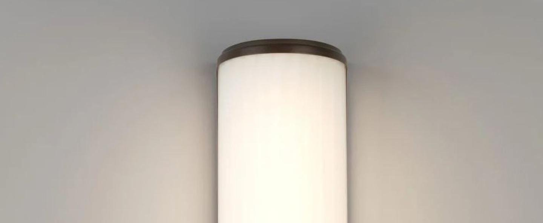 Applique de salle de bain monza 400 bronze ip44 led 3000k 522lm p8 9cm h40cm astro normal