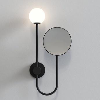 Applique de salle de bain orb noir mat ip44 l21cm h43 4cm astro lighting normal