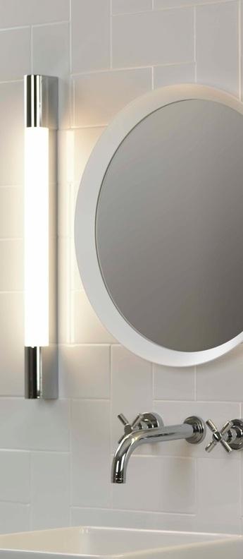 Applique de salle de bain palermo 600 led chrome ip44 l60cm h60cm astro lighting normal