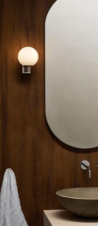 Applique de salle de bain sagara chrome ip44 l12cm h15 5cm astro lighting normal