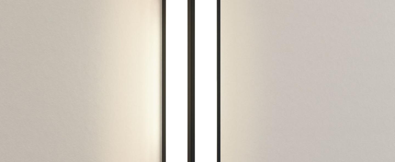 Applique de salle de bain salerno 520 noir texture ip44 led 3000k 916lm o8cm h52cm astro normal