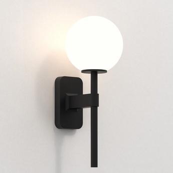 Applique de salle de bain tacoma single noir mat ip44 l7cm h27cm astro lighting normal