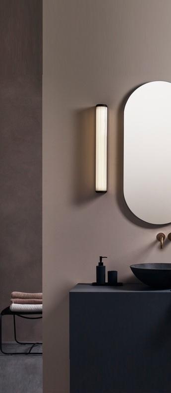 Applique de salle de bain versailles 600 bronze ip44 led 3000k 1078lm o8cm h61cm astro normal