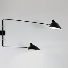 2 bras pivotants dont 1 courbe serge mouille editionssergemouille ap2b1c noir luminaire lighting design signed 100515 thumb