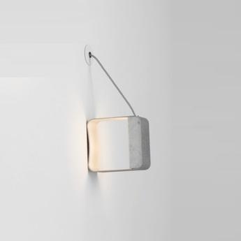 Applique eau de lumiere led gris blanc marbre h21cm designheure normal