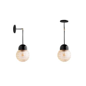 Applique et lampe articulaire pure porcelaine noir laiton h 42cm o15 cm zangra normal