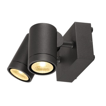 Applique et plafonnier exterieur double helia led 3000k 900lm anthracite ip55 h10 5cm slv normal