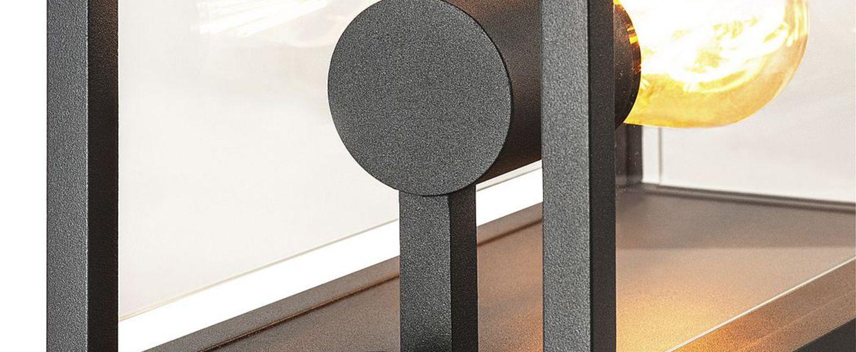 Applique exterieur avec detecteur quadrulo senso ip44 gris anthracite h29cm p16cm l14cm slv normal