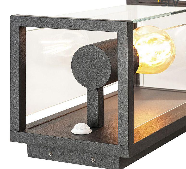 Applique exterieur avec detecteur quadrulo senso ip44 gris anthracite h29cm p16cm l14cm slv 71040 product