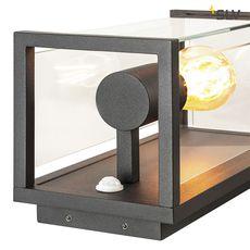 Applique exterieur avec detecteur quadrulo senso ip44 gris anthracite h29cm p16cm l14cm slv 71040 thumb
