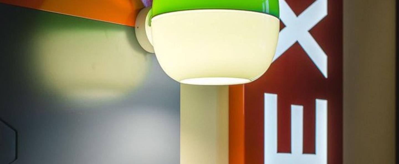 Applique ij lamp metal s vert blanc metal pmma o23 7cm h26cm dark normal