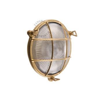Applique lampe etanche marine laiton ip 64 o20cm p9cm zangra normal