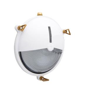 Applique lampe marine etanche en laiton blanc ip64 o20cm p9cm zangra normal
