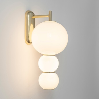 Applique led 590 lm 2700 k c pearls blanc or l22cm h40cm formagenda normal
