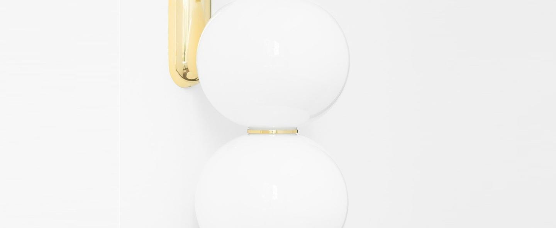 Applique led 590 lm 2700 k e pearls blanc or l18cm h40cm formagenda normal