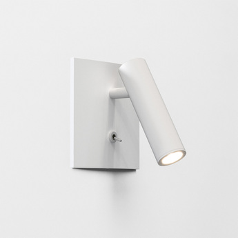 Applique liseuse enna square switched blanc led 2700k 111lm l11cm h11cm astro normal