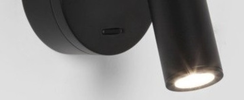Applique liseuse enna surface noir ip20 led 111lm 2700k l15 5cm h11cm astro normal