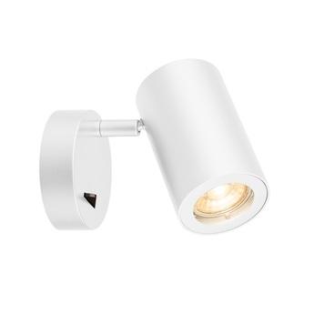 Applique liseuse enola b blanc avec interrupteur h11 6cm o6 8cm slv normal