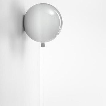 Applique memory ballon gris brillant o30cm brokis normal