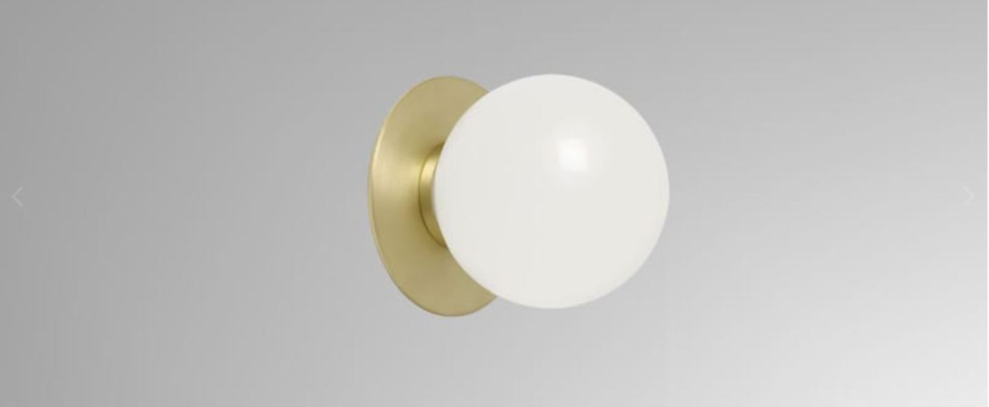 Applique mezzo flush laiton o13cm h12cm ip44 cto lighting normal