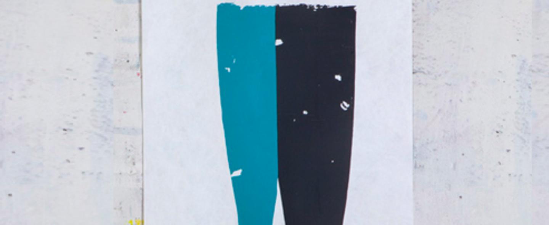 Applique murale 009 bleu noir led l75cm h55cm naama hofman normal