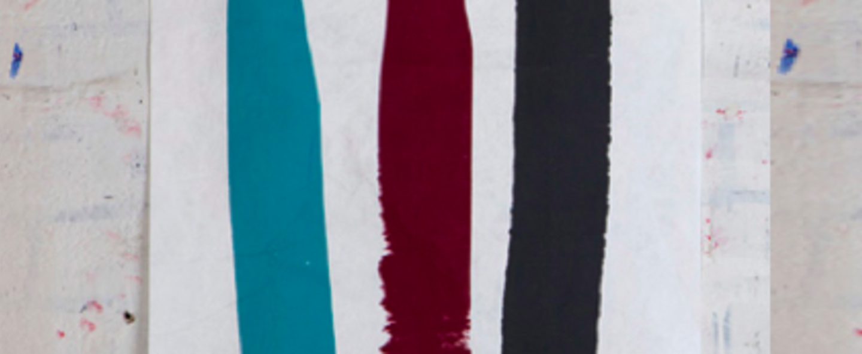 Applique murale 009 bleu noir rouge led l30cm h30cm naama hofman normal
