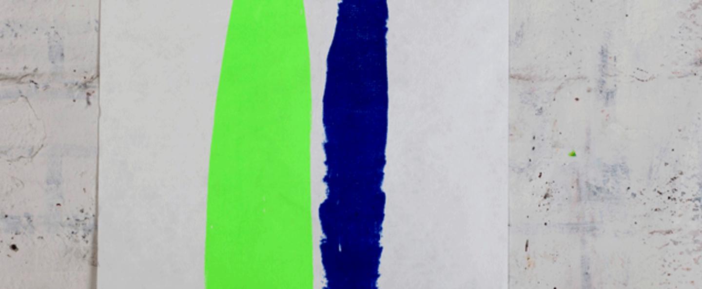 Applique murale 009 bleu vert led l75cm h55cm naama hofman normal