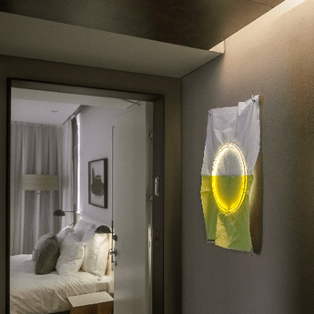 Applique murale 009 jaune led l30cm h30cm naama hofman normal