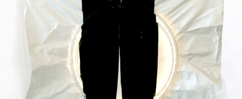 Applique murale 009 noir et blanc led l30cm h30cm naama hofman normal