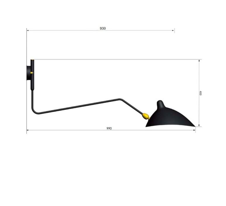 1 bras pivotant courbe serge mouille editionssergemouille ap1bc noir luminaire lighting design signed 20778 product