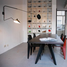 2 bras pivotants dont 1 courbe serge mouille editionssergemouille ap2b1c noir luminaire lighting design signed 20815 thumb