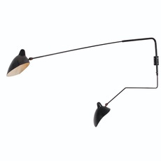 2 bras pivotants dont 1 courbe serge mouille editionssergemouille ap2b1c noir luminaire lighting design signed 20885 thumb