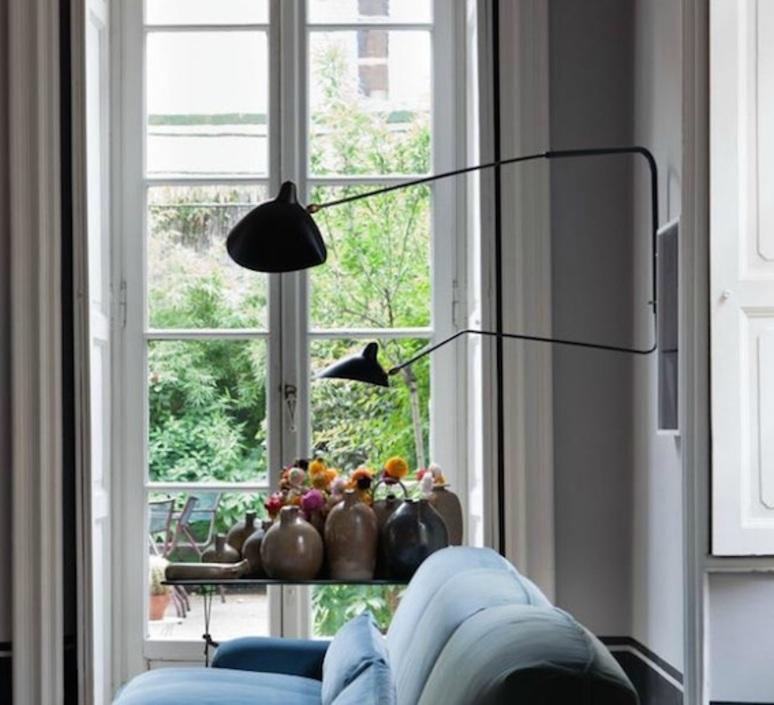 2 bras pivotants dont 1 courbe serge mouille editionssergemouille ap2b1c noir luminaire lighting design signed 21007 product