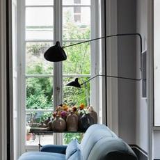 2 bras pivotants dont 1 courbe serge mouille editionssergemouille ap2b1c noir luminaire lighting design signed 21007 thumb