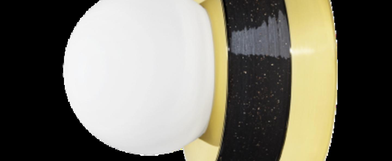 Applique murale 3 01 noir led o18cm h21cm haos normal